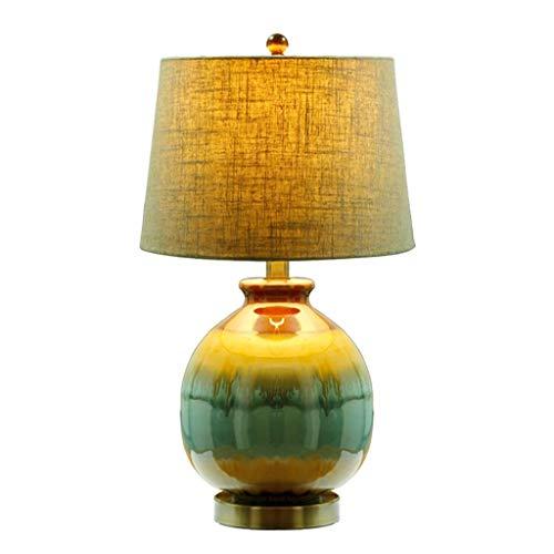 Farbwechselnde Keramik-Tischlampe, Wohnzimmerlampe Schlafzimmer-Nachttischlampe, Impression Mountain Water Pattern, Höhe 56CM Lampen & Beleuchtung