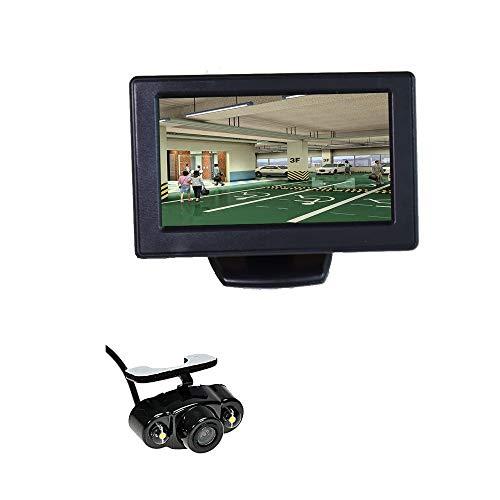 12V Drahtlose Rückfahrkamera + 4,3 Zoll LCD TFT Monitor Auto Rückfahrkamera Parksystem Kit Rückparkhilfe Rückansicht LED Nachtsicht