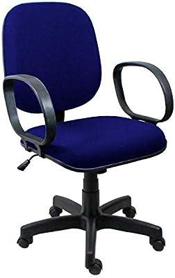 Cadeira Diretor Operativa Com Braço Tecido Azul com Preto - ULTRA Móveis