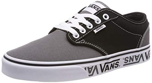 Vans Men's Atwood Low-Top Sneakers, 13 M US, (Sidewall Logo) Black/Grey