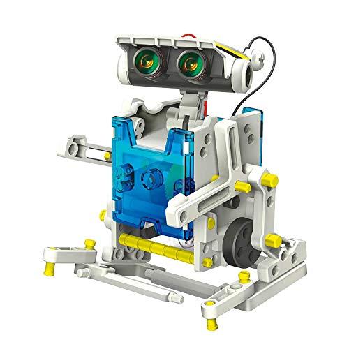SELVA Robot Solar 14 en 1 - Construye 14 Modelos Diferentes con sólo 1 Kit (más de 200 componentes) - La Placa Solar suministra energía para la locomoción