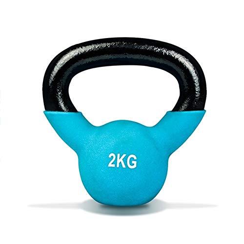 Kettlebells WXYZ Pesas Rusas Moldeada Esmerilado Hierro For Gimnasio En Casa, Ergonómico Mango 2kg, 4kg, 6kg, 8kg, 10kg, 12kg, 14kg, 16kg, 18kg, 20kg (Size : 2kg)