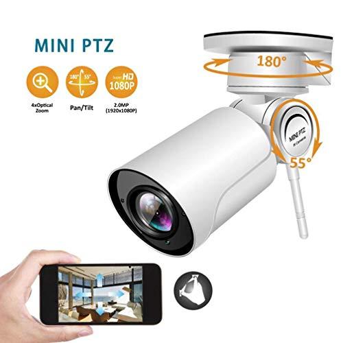 4X Zoom con Sonido Cámara Web HD 1080P Cámara IP de vigilancia remota Impermeable al Aire Libre IP66 con función de Alarma de Soporte de visión 30M,4xzoom