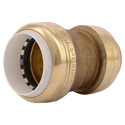 SharkBite PVC Fitting UIP4020A 1 inch X 1 inch CTS, PVC Connector to Copper, PEX, CPVC, HDPE or PE-RT for Potable Water
