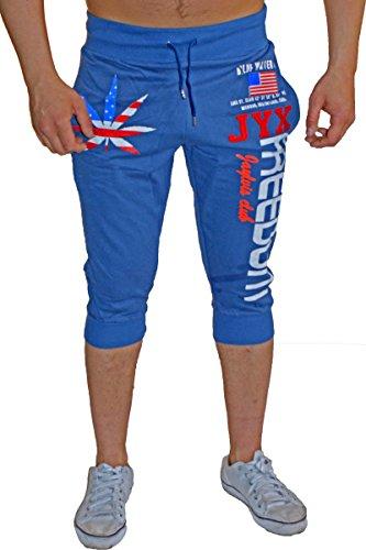 Bermuda-shorts voor de zomer, lichte katoenen broek met zakken, korte joggingbroek voor heren tot xxxl, stijlvolle vrijetijdsbroek in trendy JYX Freedom design, driekwart sportbroek BM-1107