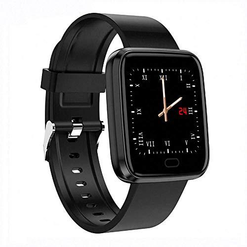 Everyday Fashion: Smart Armband Sport Step Fitness Tracker Blutdruck Pulsmesser IP7 Wasserdicht Smart Watch Farbdisplay für Android IOS, Schwarz