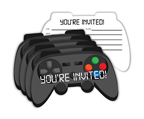 Video Gaming Game Controller Birthday Party Invitations & Envelopes Value Pack (20 Count)