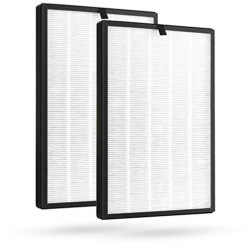 Cabiclean 2 Packs Pure Morning APH260 Replacement Filter for APH260 Air Purifier, 3-in-1 Filter System Include Pre-Filter, True HEPA Filter and Activated Carbon Filter