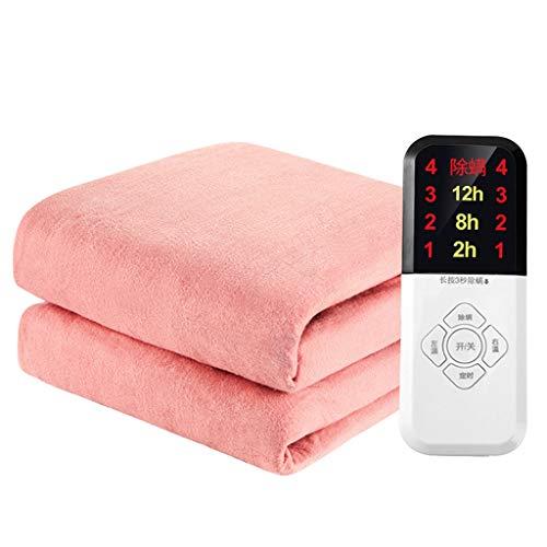 Manta Eléctrica de Temperatura Ajustable de 4 Velocidades Manta Eléctrica de Control de Temperatura Doble Temperatura Constante Inteligente 12 Horas Cronometradas Control de Temperatura de 30~45℃