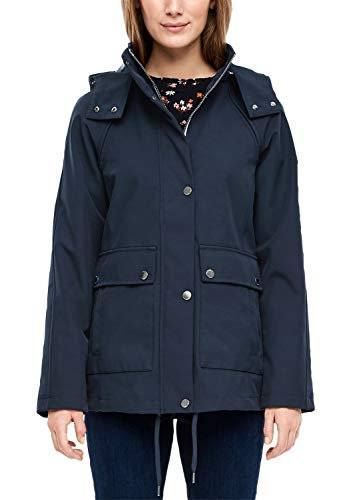 s.Oliver RED Label Damen Jacke mit Abnehmbarer Kapuze Navy 36