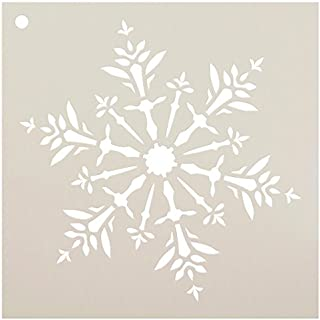 Snowflake Stencil by StudioR12 | Delicate Winter Art - Reusable Mylar Template | Painting, Chalk, Mixed Media | Use for Wa...