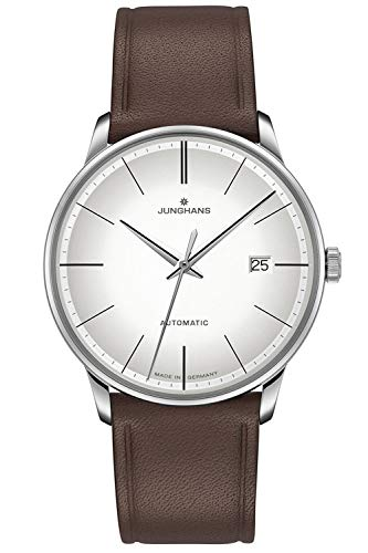 Junghans Automatik Herrenuhr Meister Lederband Braun 027/4050.00