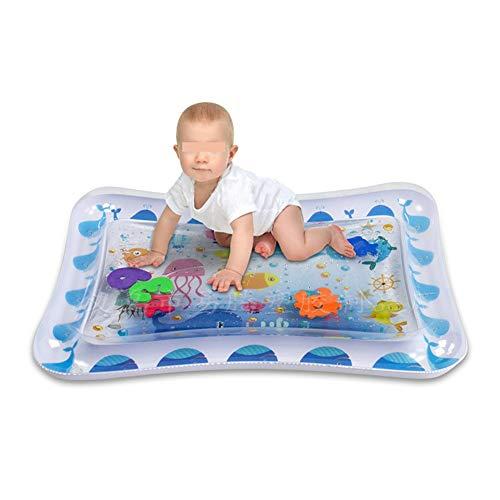 Tapis de jeu Kids Sprinkle and Splash, Kid gonflable Tummy temps l'eau Tapis de jeu Jouets for les nourrissons en bas âge Enfants Activité Bébé sensorielle Jouets Bleu Jouet d'eau de jardin pour enfan