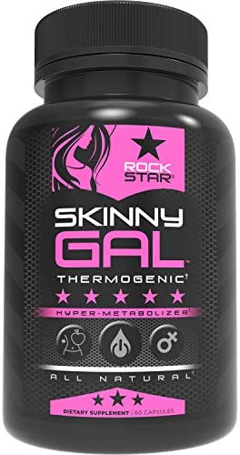 Skinny Gal Weight Loss Pills for Women Diet Pills by Rockstar Thermogenic Fat Burner 60 Veggie product image