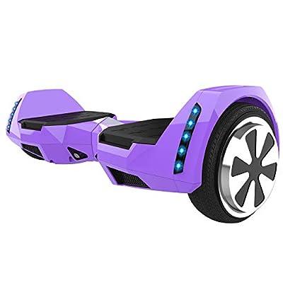 CXMScooter 6.5 inch Self-Balance Scooter w/Bluetooth Speaker UL2272 Certified (Purple)