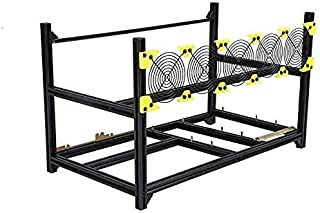HRouGE 6/8 GPU Aluminum Stackable Open Air Mining Computer Frame Rig Ethereum Veddha (Only Frame Included)