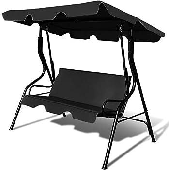 Costway Patio 3 Seats Canopy Swing Glider Hammock