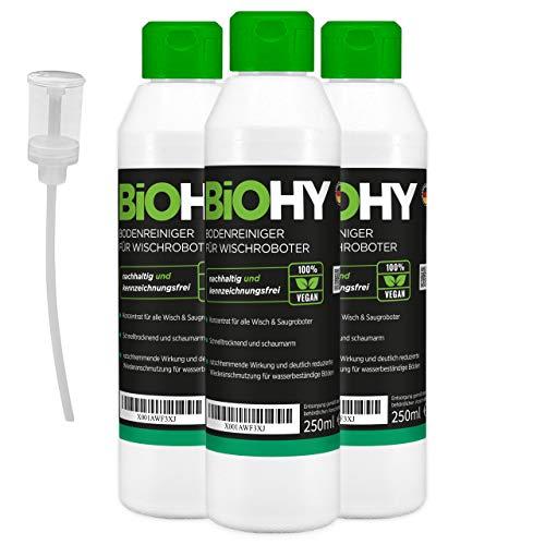 BiOHY Limpiador especial de tapicería (3 botellas de 250 ml) + dosificador, ideal para asientos de coche, sofás, colchones, etc. También adecuado para aspiradora.