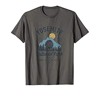 Vintage Retro Yosemite National Park Hiking T Shirt T-Shirt