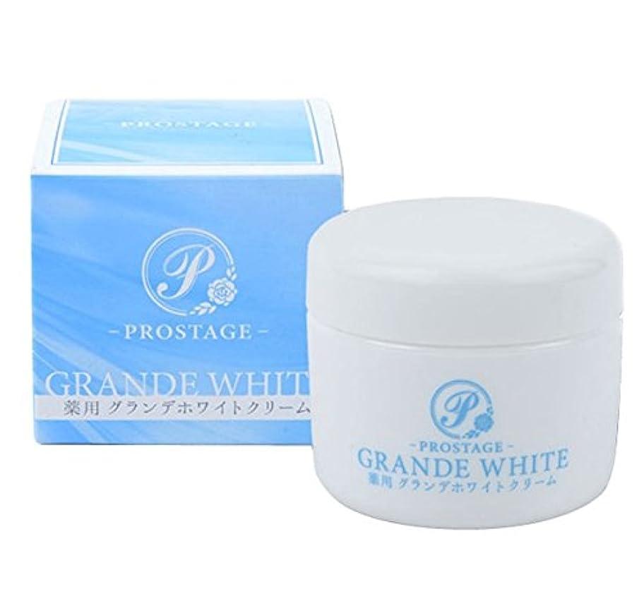 配管工高く迷惑薬用グランデホワイトクリーム PROSTAGE ホワイトニングクリーム 大容量80g (1個)