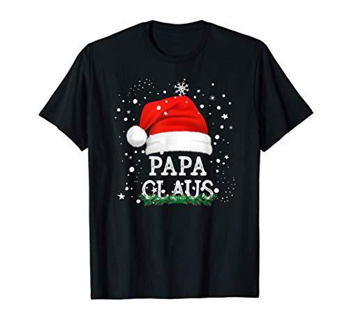 Hombre Papa Claus Pijama Familia Divertido Regalo Navidad Padres Camiseta