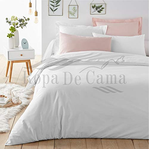 Ropa De Cama 1000 Thread Count Cotton Hotel Quality 3 PC Duvet Cover Set 100% Long Staple Egyptian Cotton In UK Super-King White Color