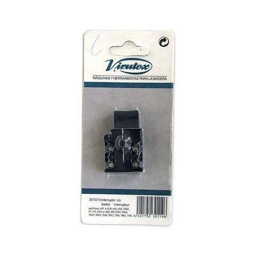 VIRUTEX 3015014 3015014-Interruptor con Enclavamiento a la Marcha para múltiples Modelos, Negro