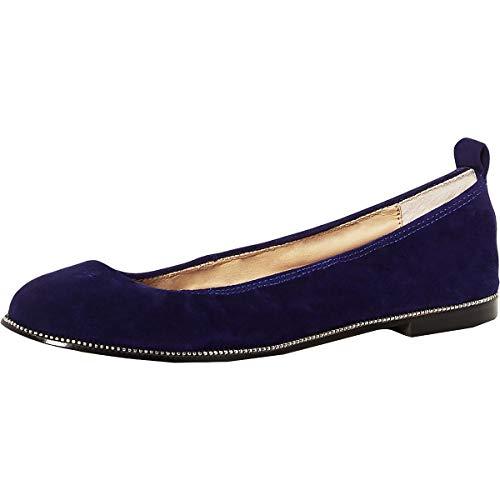 botkier Womens Mason Ballet Flat, Marina Blue, 10