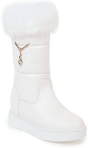 AdeeSu Plateforme Femme Blanc, Blanc, 38.5 EU, SXC02684  prix le moins cher