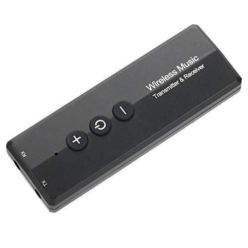 Receptor Transmisor Bluetooth 5.0, Adaptador de Audio Estéreo Inalámbrico de 3.5mm 3 en 1, Capacidad de Batería de 300mAh, Compatible con TV, MP3, Reproductor, PC, Lector de Libros Electrónicos