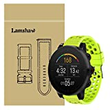 for Polar Vantage M Band, Lamshaw Silicone Replacement Wristbands Sport Strap with Metal Buckle for Polar Vantage M Smartwatch (Green)