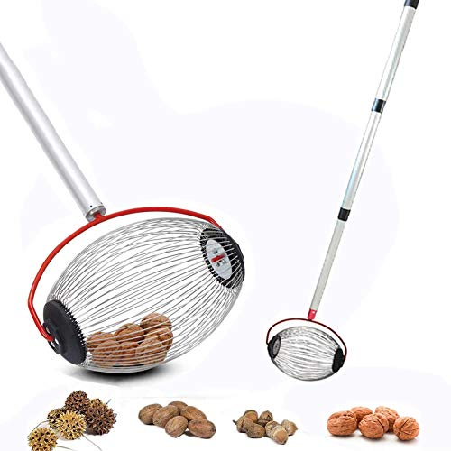 Special-U Nut Gatherer Nut Picker Upper Roller Retractable Aluminum Alloy Boom Orchards/Garden Tool for Picking Up and Gathering Nuts Walnuts Chestnuts Pecans Crab Apples and Ball 2-5CM in Size