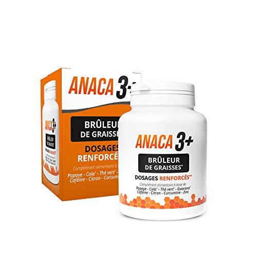 Anaca3+ – Brûleur de Graisses – 3 Actions – Dosages Renforcés* – Complément Alimentaire – Programme 30 jours – 120 gélules