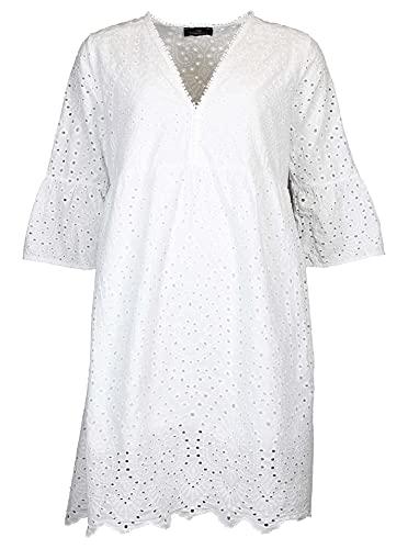 Zwillingsherz Strandkleid mit Lochstickerei im trendigen Paisley-Muster– Sommerkleid für Damen Frauen Mädchen - Abendkleid Freizeitkleid -...