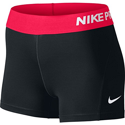 Nike Pro 3' Cool Pantalón corto, Mujer, Negro/Blanco, XS