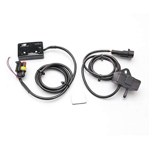 Candybarbar CNSPEED Blaulicht-Digital-Ladedruckanzeige Auto Booster Table -14 ~ 40 PSI Aufgeladenes Instrument Aufgeladenes Thermometer