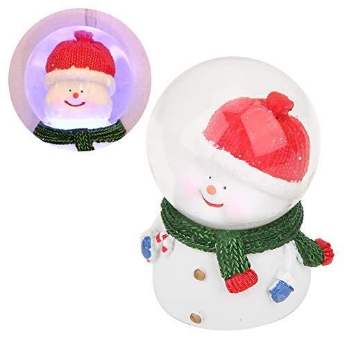 Decorações de Natal, bola de cristal de Natal em forma de boneco de neve, requintado presente de aniversário para família Kids Friends Decoração de Natal