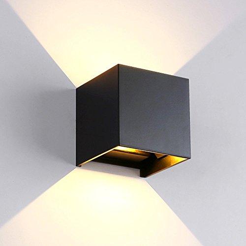 Sheny LED Wandbeleuchte mit IP65 Wasserdicht 3000K Warmweiß Würfellampe für flur/schlafzimmer/aussenbereich(7W CUBE)