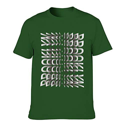 Brooklyn New York City Männer T-ShirtsBaumwolle Tee Classics Herren T-Shirt Motiv Tops T-Shirt T-Stücke Dark green001 3XL