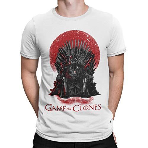 Camisetas La Colmena, 035 - Game of Clones (S, Blanco)