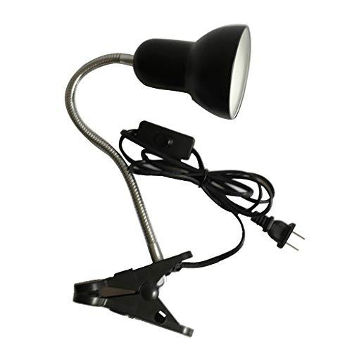 Preisvergleich Produktbild non-brand Klemmleuchte E27 Tischlampe Schwanenhals Schreibtischlampe Nachtlampe Leselampe mit E27 Lampenfassung für Glübirne unter 100W - Schwarz
