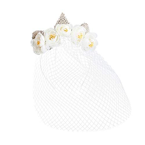 Frcolor Kronenhoofdtooi sjablonen van het kant-maskersluier, volgelaatsmaskeroogst voor Halloween-bruiloft