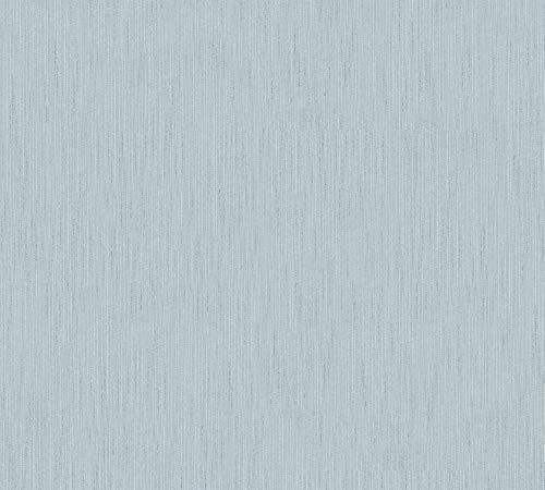Architects Paper Textiltapete Metallic Silk Tapete Uni 10,05 m x 0,53 m blau grün Made in Germany 306831 30683-1