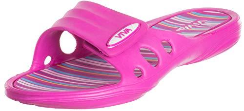 Brandsseller Damen Hausschuhe Badeschuhe Slide Slipper Badelatschen - Pink 37