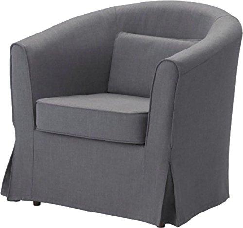 Easy Fit La Sostituzione Ektorp Tullsta Copertura della Sedia è su Misura per Ikea Tullsta Copertina, Una Sostituzione Poltrona Fodera Divano Scuro Cotone Grigio
