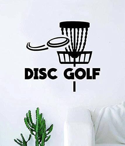 Disc-Golf-Korb v3 Wandaufkleber, für Schlafzimmer, Zuhause, Vinyl, inspirierende Dekoration, Sport, Frisbee, Wurf, Spaß, Putter, Distanz Driver