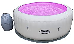 AirJet Massage System: 87 AirJets create thousands of rejuvenating bubbles Rapid Heating System heats water Up to a blissful 40 degrees Celsius Multi-coloured LED lighting system with waterproof wireless remote Timer Controlled Heating Setting: Activ...