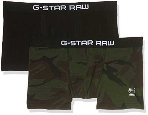 G-STAR RAW Herren Tach Trunk Camo 2 Pack Boxershorts, Grün (Asfalt/Black Ao/Black 7432), XX-Large (2er Pack)