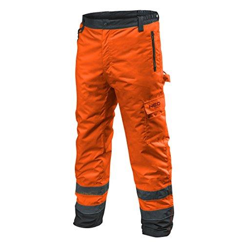 NEO TOOLS Profi Thermo Warnschutzhose EN 20471 Warnhose orange gelb Arbeitshose Warnschutz Sicherheitshose XXL orange