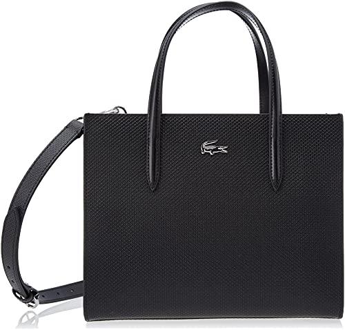 Lacoste NF3563KL, Square Shopping Bag Donna, Nero, Taglia Unica